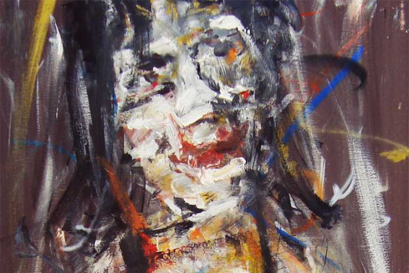 Miss (detail), Oil on Canvas, 100x50. (Pocitelj Collection) 2013