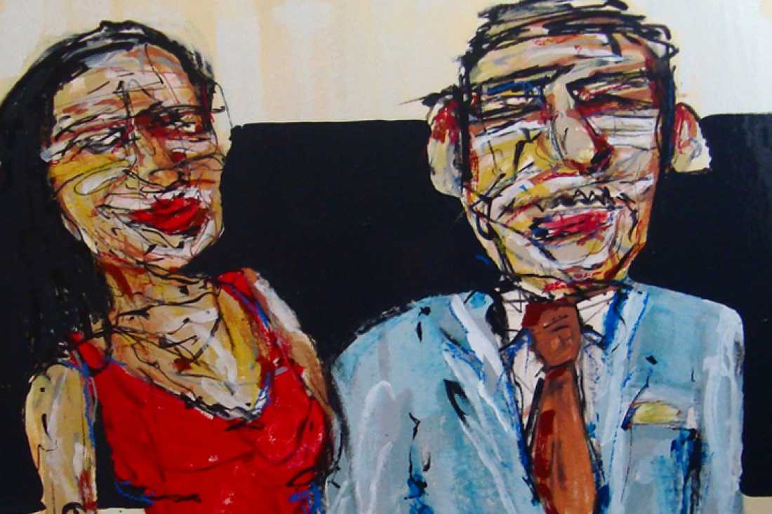 Couple, 101x95, oil on canvas (detail)